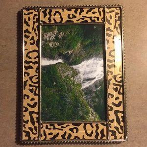 Other - Animal Print Glass Frame